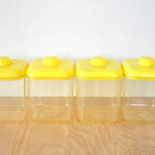 yellow kitchen canisters shop vintage kitchen canister sets on wanelo