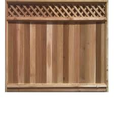6 ft x 8 ft cedar fence panel with diagonal lattice top lowe u0027s