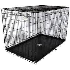Truck Bed Dog Crate Amazon Com Precision Pet Two Door Great Crate Large 42x28x30