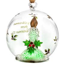 spode candle glass led ornament silversuperstore