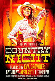 template flyer country free country western flyer template free best 20 country and western