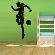 compare prices on sports wall murals online shopping buy low football wall murals playing soccer removable wall stickers self adhesive wallpaper sport art murals for kids