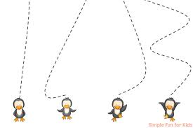printable preschool cutting activities baby penguin cutting practice simple fun for kids