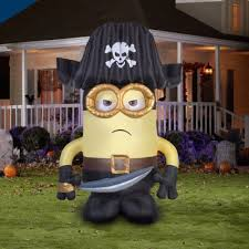 halloween inflatable decorations lighted minion pirate airblown 9