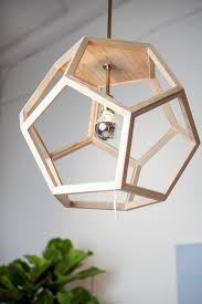oak wood pendant 20 u2033x20 u2033x20 u2033 themill ca hexagon wood pendant light