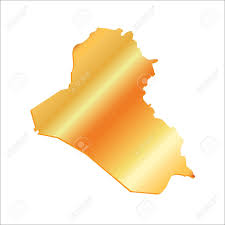 iraq map vector 3d iraq gold outline map with shadow royalty free cliparts