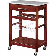 Kitchen Island And Carts Kitchen Island Cart With Granite Top Multiple Colors Walmart Com