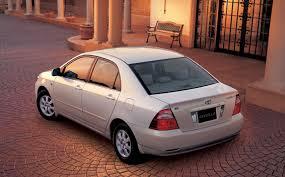 weight toyota corolla toyota corolla sedan g at 1 5 2004 japanese vehicle