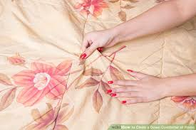 How To Put A Duvet Cover On A Down Comforter How To Clean A Down Comforter At Home 12 Steps With Pictures