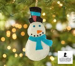 st jude snowman ornament pottery barn