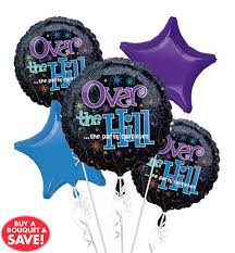 the hill balloon bouquet the party continues 50th birthday party supplies party city