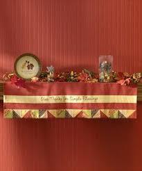thanksgiving or harvest mantel scarf fireplace mantel scarves