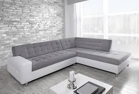 canap d angle blanc canapé d angle droit marko blanc et gris
