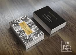 modern business card makeup business card tropical printable