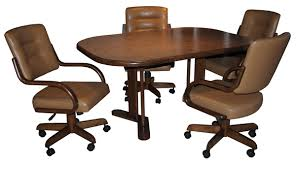 dining room sets with caster chairs dinettes furniture tables