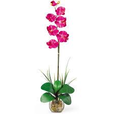 Silk Flower Depot - nearly natural 27 in single phalaenopsis liquid illusion silk