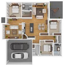 lovely design ideas small modern house plans in 3d 14 4 bedroom 2
