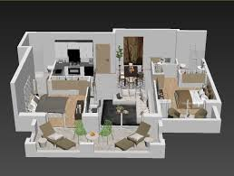 3d apartment floor plans detailed floor plan 3d cgtrader