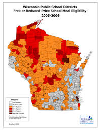 Map Of Central Wisconsin by Changes In Free And Reduced Meal Eligibility 2003 2014