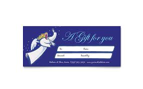 gift certificate template microsoft word christmas angel gift certificate template design