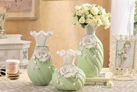 Bottle Vases Wholesale Modern Bottle Shape Yellow Green White Color Ceramic Vase Ceramic