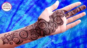 easy and simple arabic mehndi designs for full hands henna