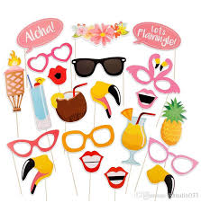 carnival party supplies flamingo tropical summer hen photo booth props hawaii carnival