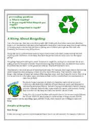 english worksheets recycling worksheets page 5