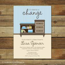 Changing Table Baby by Diaper Shower Invitation Changing Table Baby Boy Shower