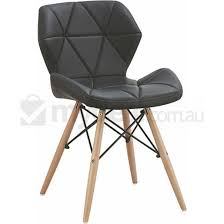 Eames Dining Chair 2x Modena Eames Inspired Pu Dining Chairs In Black Buy Sets Of 2