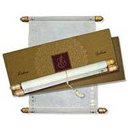 Scroll Invitation Rods All Available Scrolls