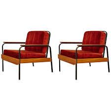 fauteuils rouges fauteuils rouges 1950 set de 2 en vente sur pamono