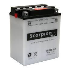 yb14l a2 battery scorpion 12 volt motorcycle batteries