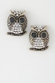 owl earrings women s metallic owl stud earrings studs jewelry and autumn