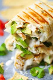 chicken and avocado ranch burritos damn delicious