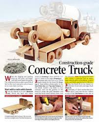 Children S Woodworking Plans Free by 517 Wooden Concrete Truck Plans Children U0027s Wooden Toy Plans And