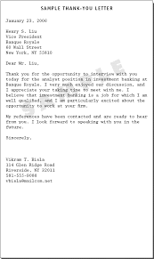 sample thank you letter after interview for teaching position