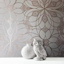 muriva eve floral cream rose metallic wallpaper 701470