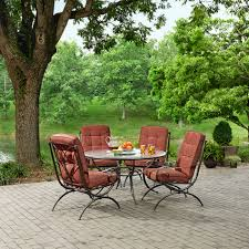 Jaclyn Smith Patio Cushions by Jaclyn Smith Cora 4 Dining Chairs Red Limited Availability
