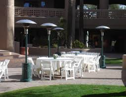 patio table with heater outdoor patio heaters u0026 heaters for rent phoenix az hacienda