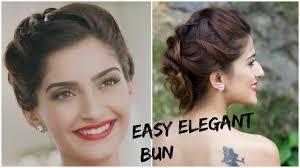 sonam kapoor u0027s glamorous hairstyle 5 minute romantic bun hairstyle