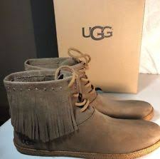 womens fringe boots size 11 ugg australia booties lace up boots for ebay
