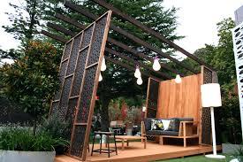 patio ideas garden design with outdoor privacy screens on