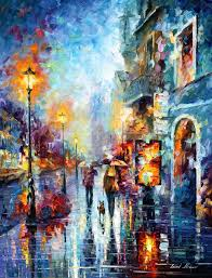 decor painting abstract wall art by famous painter leonid afremov for your room