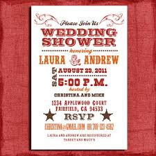 coed bridal shower printable western couples wedding shower 4x6 invitation diy