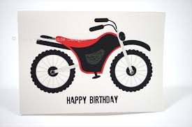 happy birthday card boy red and black motorbike hbc087 mum