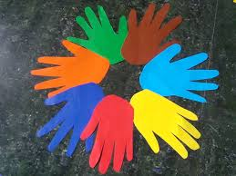 how to make a colored hands wreath for martin luther king day