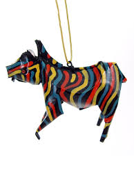 zebra ornament recycled tin ornaments