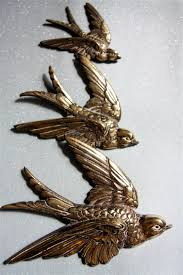 1940s brass swallows wall plaques flying ducks casas cosas