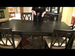 camden black rectangular leg dining table by american drew home